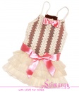 Lim010599 Dress Mesh-line milk/pink