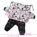 "Lim010661 Raincoat ""Moustache"" red/black"