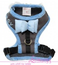 Lim04004-2 Harness Bow grey/blue