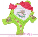 Lim010535 Raincoat But green/pink