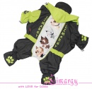 Lim010558-2 Warm raincoat Terrier grey/green