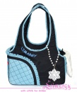 Lim020007 Bag 'Side' black/blue