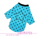 "Lim010671 Shirt ""Stars"" blue"