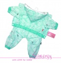 "Lim010660 Raincoat ""Lace"" green"