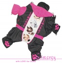 Lim010558 Warm raincoat Terrier pink/grey
