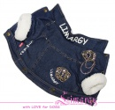 Lim010561 Warm jeans jacket Crown blue