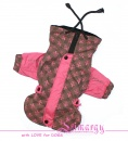 "ES01026 Raincoat jacket ""Color Greece"" pink/brown"