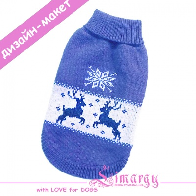 "Lim010677-3 Sweaters ""Deer"" milk/blue"