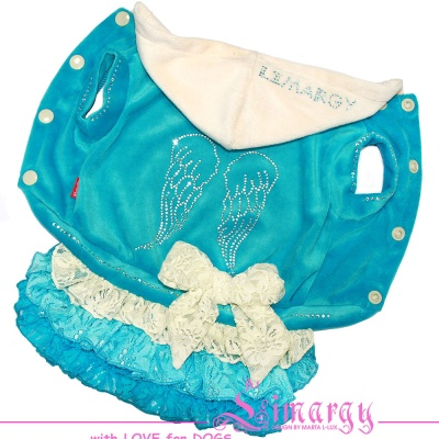 Lim010593 Dress Wings diam blue