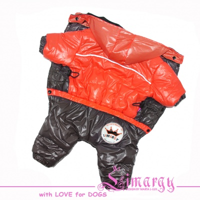 "Lim010678-3 Winter overal ""MNC"" orange/grey"