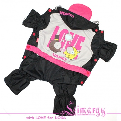 Lim010589-2 Raincoat LOVE pink