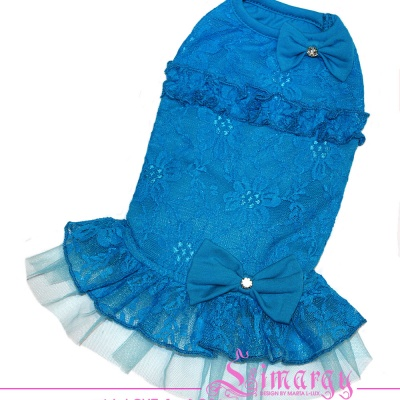 Lim010600-3 Dress Mesh blue