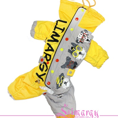 Lim010614 Warm Raincoat Hipster yellow/grey