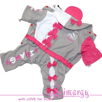 Lim010538 Raincoat Bow-Line pink/grey