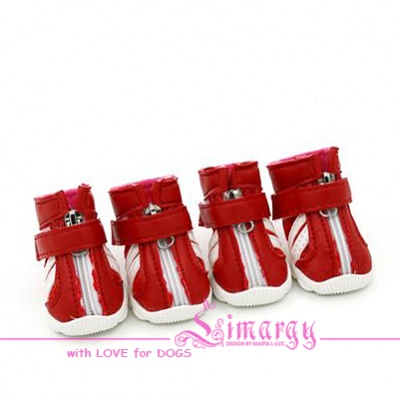 VSD15001-2 Boots 'PU' red