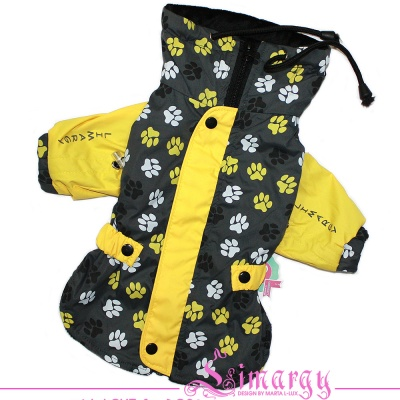 "ES01028 Raincoat jacket ""Paw Paw"" yellow/grey"
