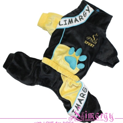 Lim010539 Overal Paw grey/yellow
