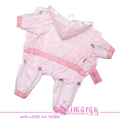 "Lim010660-3 Raincoat ""Lace"" pink"