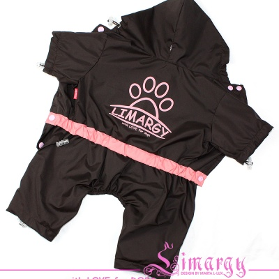 ES01005-2 Raincoat Lim-paw pink/brown