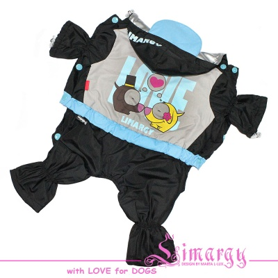 Lim010589 Raincoat LOVE blue