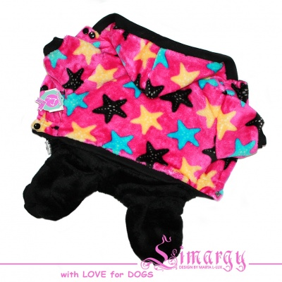 "ES01024 Overal ""Color Stars"" pink/black"