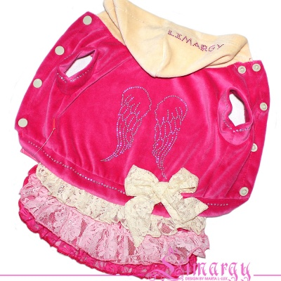 Lim010593-2 Dress Wings diam pink