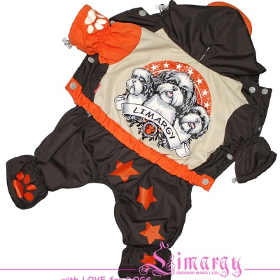 Lim010559 Warm raincoat Dogs brown/orange